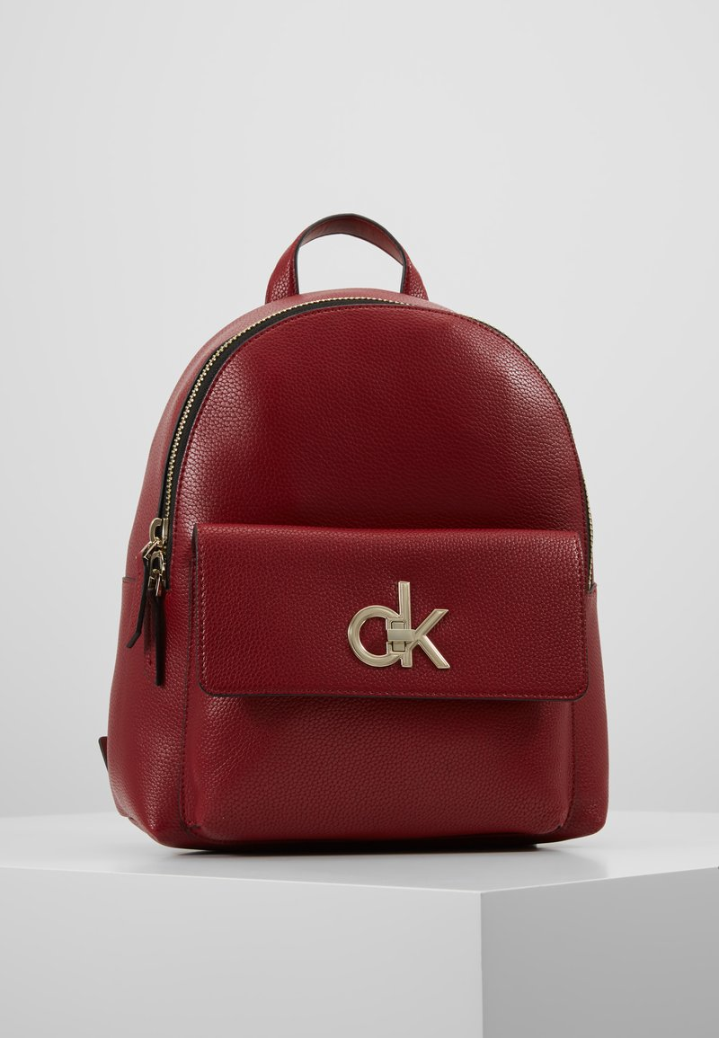 Calvin Klein - RE LOCK BACKPACK - Rucksack - red