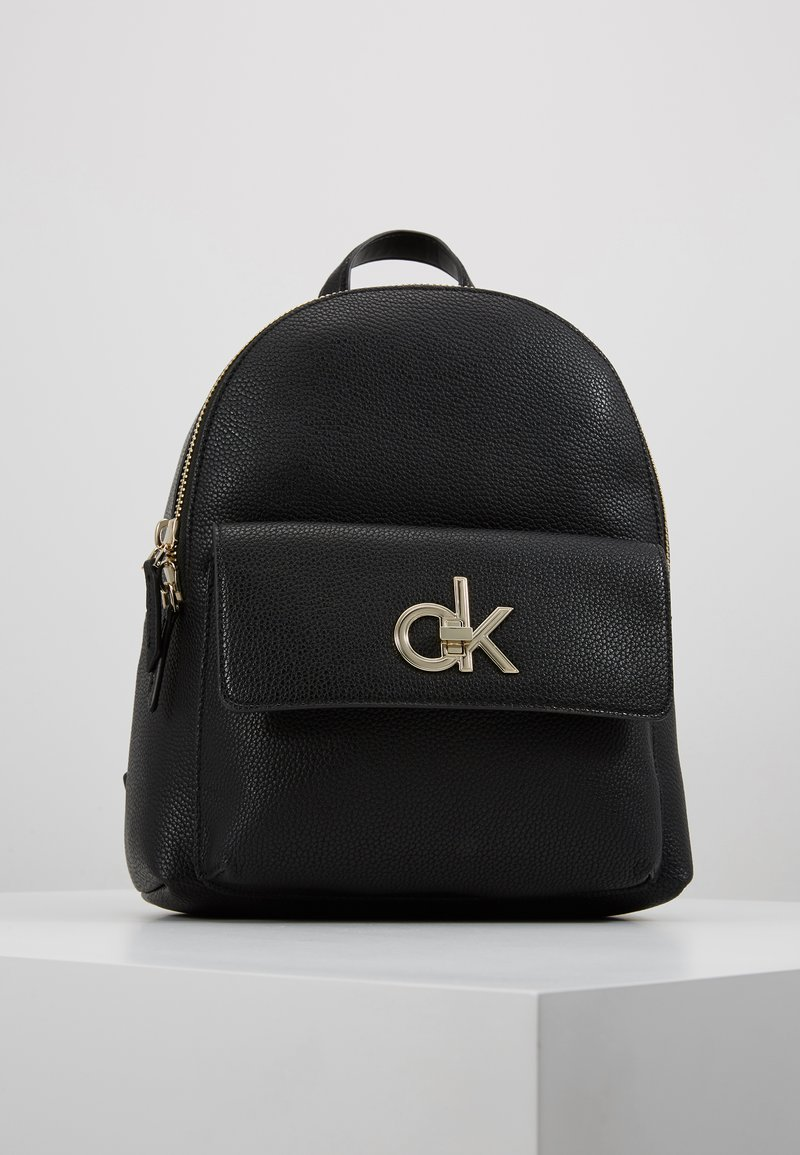 Calvin Klein - RE LOCK BACKPACK - Sac à dos - black