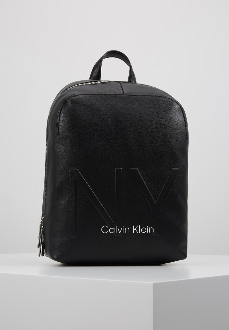 Calvin Klein - SHAPED BACKPACK - Reppu - black