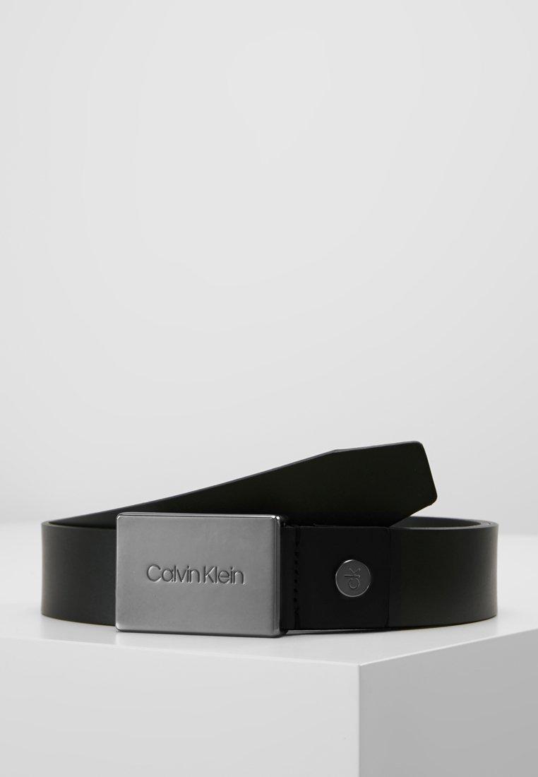 Calvin Klein - PLAQUE BELT - Riem - black