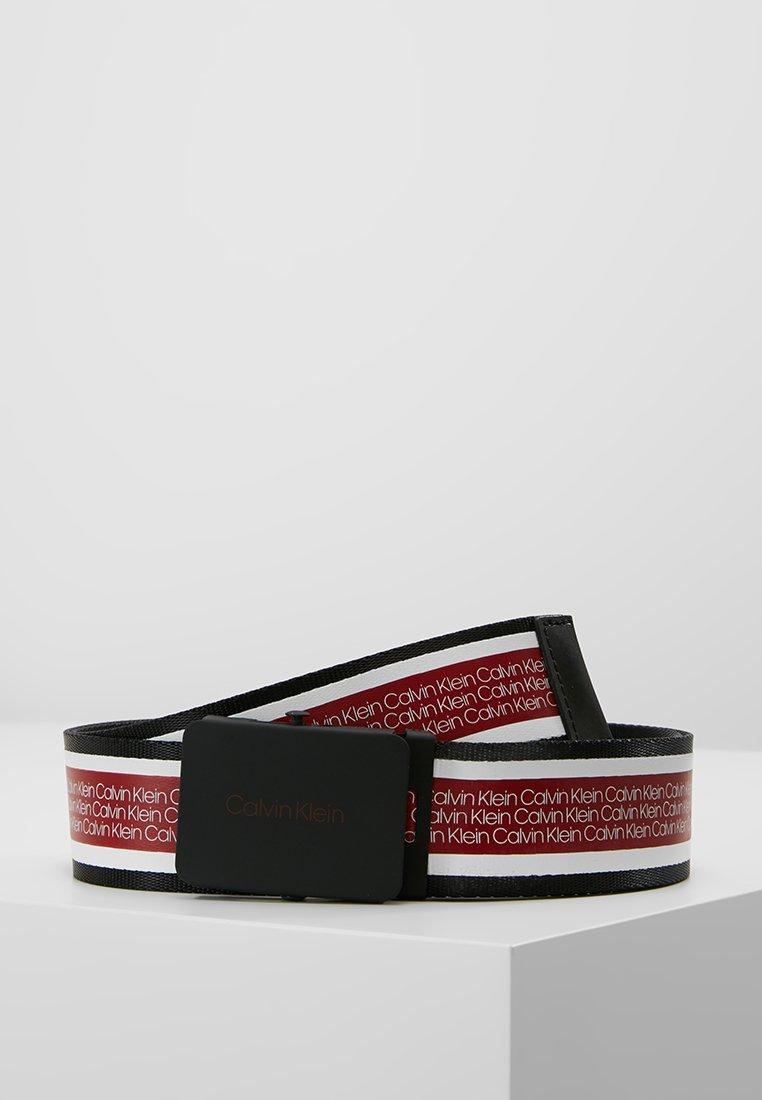 Calvin Klein - PLAQUE WEBBING BELT - Ceinture - red