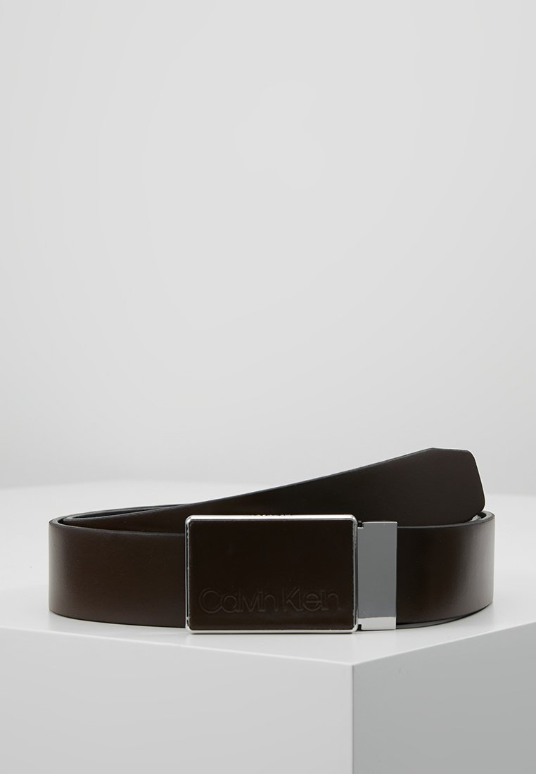 Calvin Klein - PLAQUE BELT - Belt business - brown