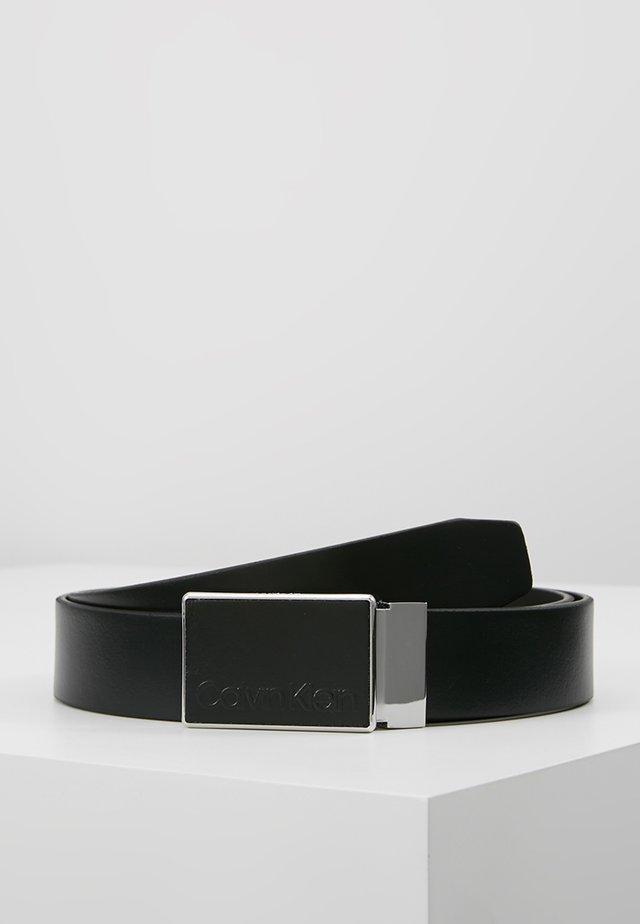 PLAQUE BELT - Riem - black