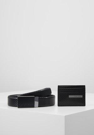 CARBON GIFTSET WALLET BELT SET - Belt - black