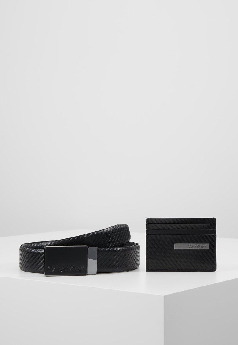 Calvin Klein - CARBON GIFTSET WALLET BELT SET - Cintura - black