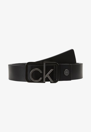 35MM SIGNATURE BUCKL BELT - Bælter - black