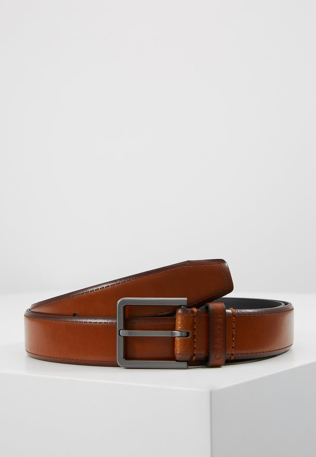BROGUE BOMBED BELT - Ceinture - brown
