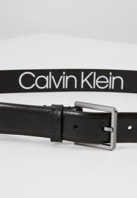 Calvin Klein - BROGUE BOMBED BELT - Belt - black - 2