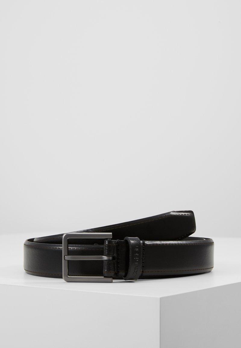 Calvin Klein - BROGUE BOMBED BELT - Belt - black