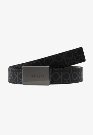 PLAQUE MONOGRAM BELT - Belt - black