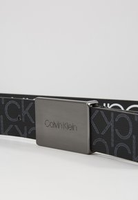Calvin Klein - PLAQUE MONOGRAM BELT - Belt - black - 4