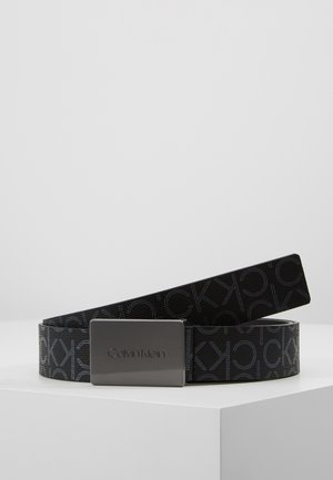 PLAQUE MONOGRAM BELT - Pasek - black