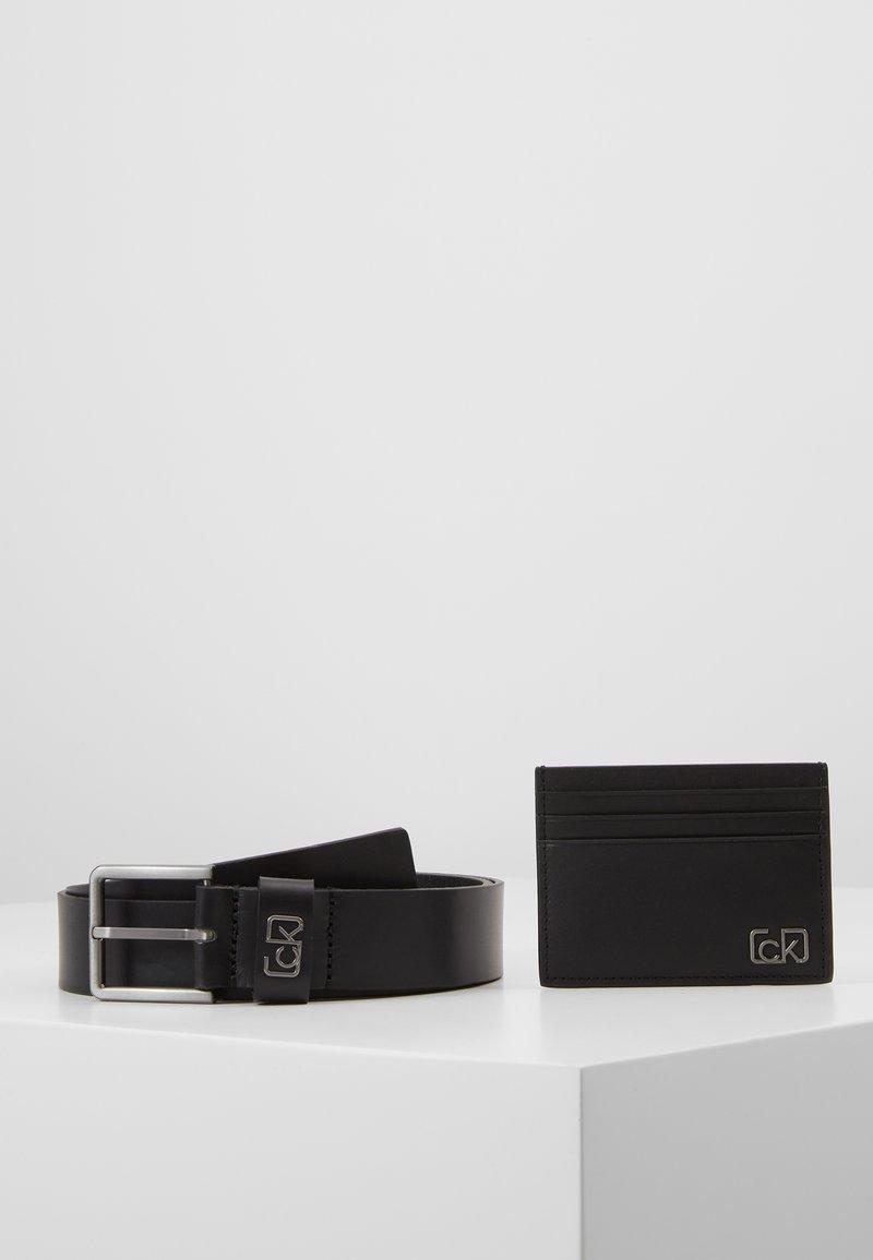 Calvin Klein - SIGNATURE BELT CARDHOLDER SET - Belt - black