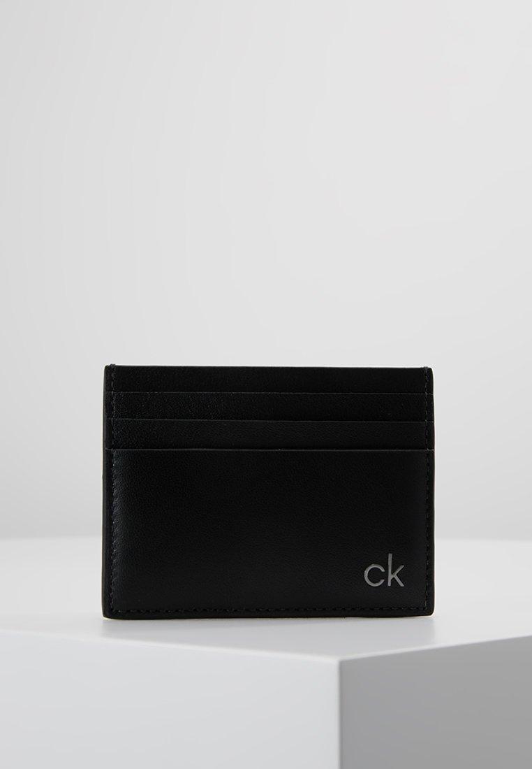 Calvin Klein - SMOOTH CARDHOLDER - Visitkortsfodral - black