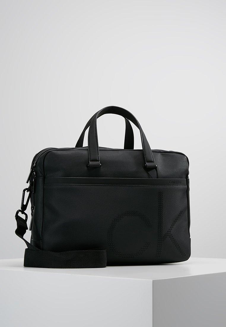 Calvin Klein - POINT LAPTOP BAG EXTRA - Aktovka - black