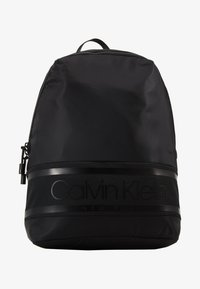Calvin Klein - STRIPED LOGO ROUND BACKPACK - Rugzak - black - 4