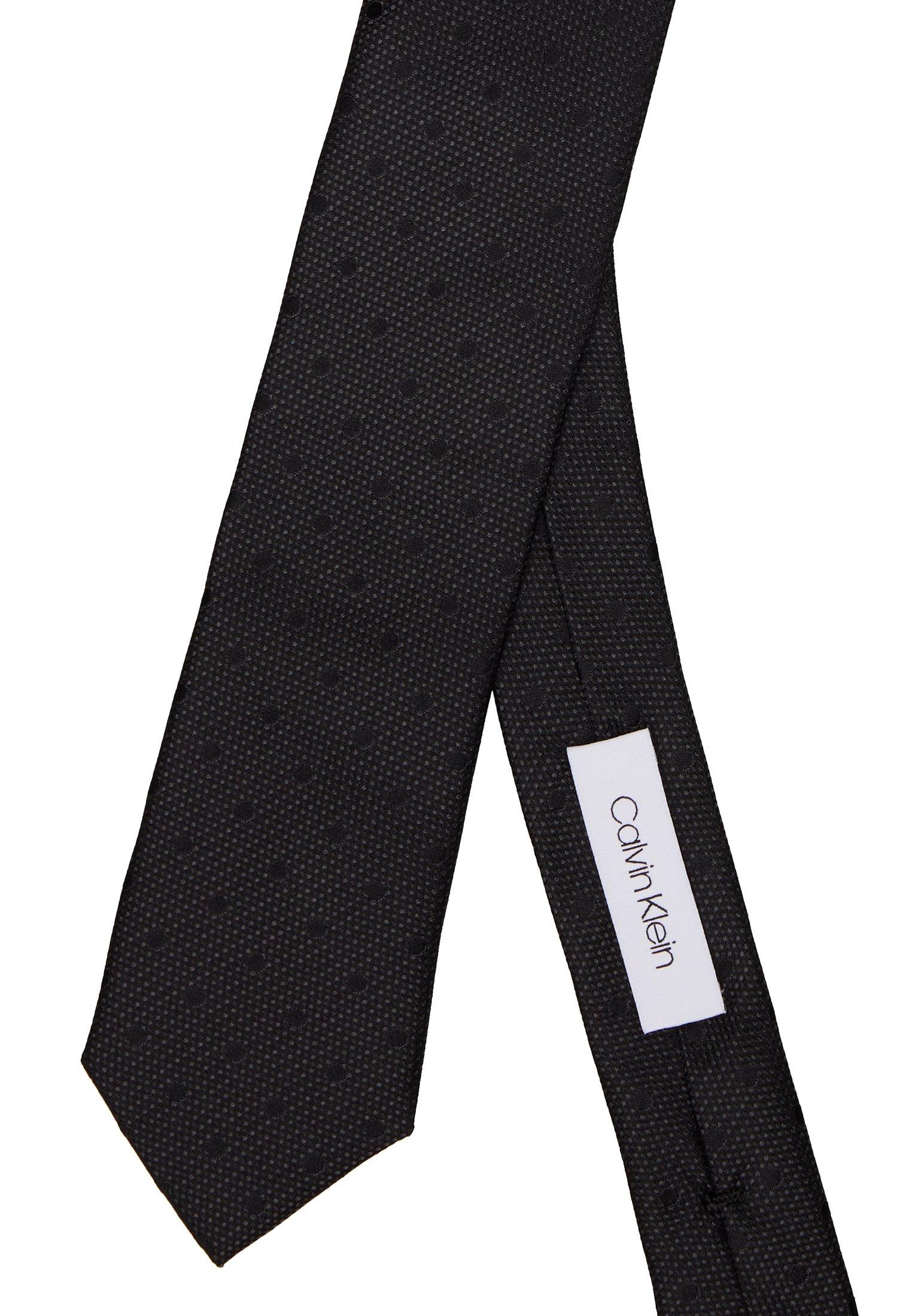 Calvin Klein MIXED SCALE DOTS TIE - Krawat - black