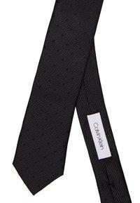 Calvin Klein - MIXED SCALE DOTS TIE - Cravatta - black - 2