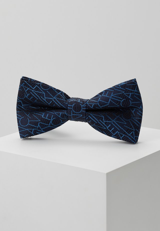 ALL OVER LOGO BOW TIE - Butterfly - blue