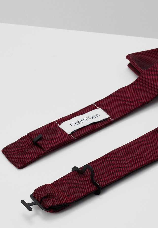 OXFORD SOLID BOW TIE - Butterfly - red
