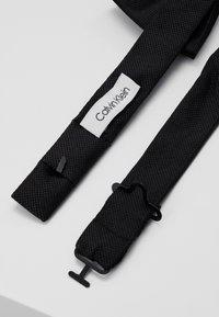 Calvin Klein - OXFORD SOLID BOW TIE - Motýlek - black - 3