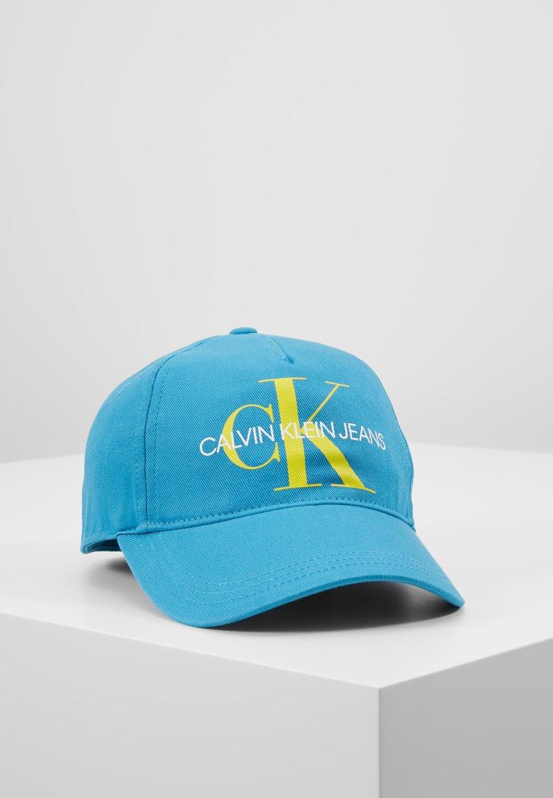 Calvin Klein Jeans - PRINTED MONO BASEBALL - Cap - blue