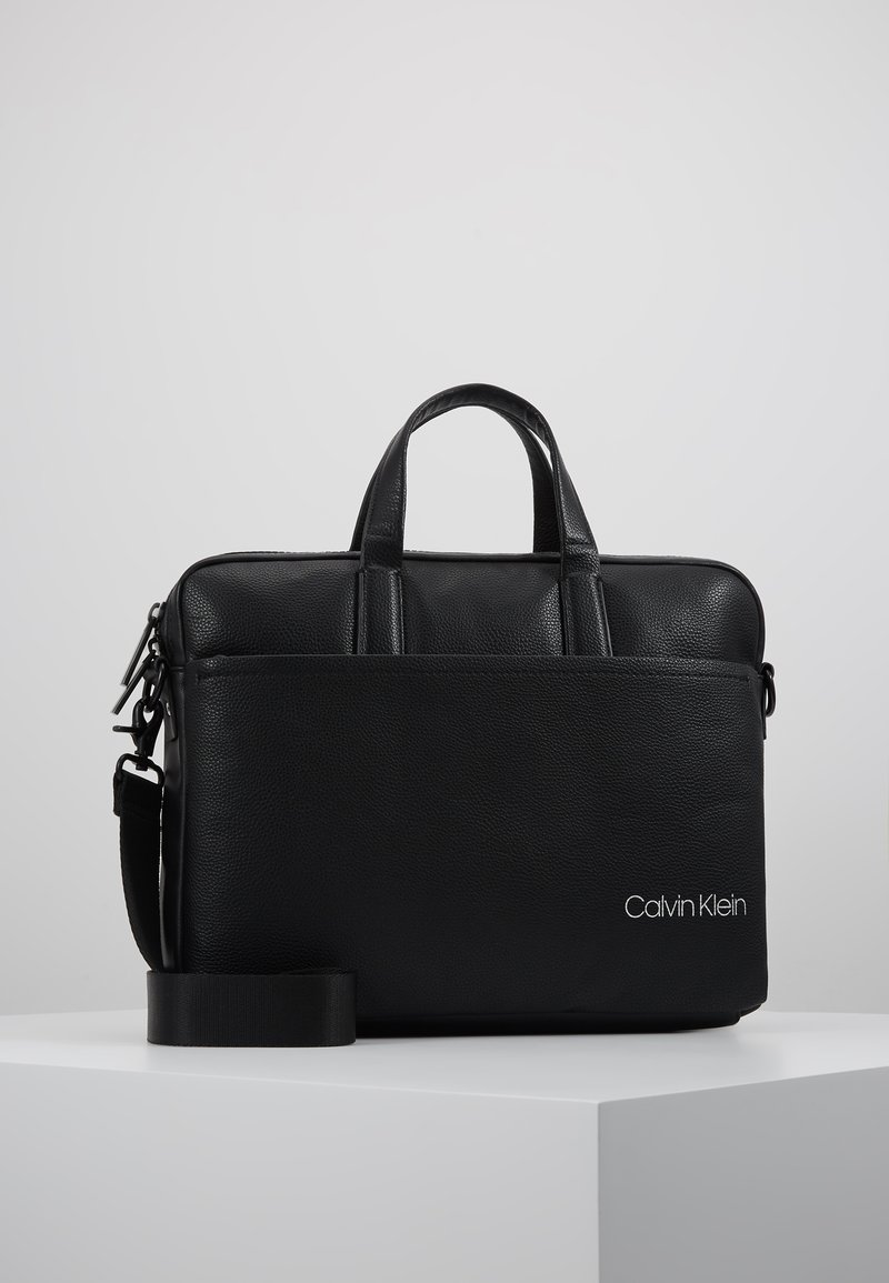 Calvin Klein - DIRECT SLIM LAPTOP BAG - Aktetas - black