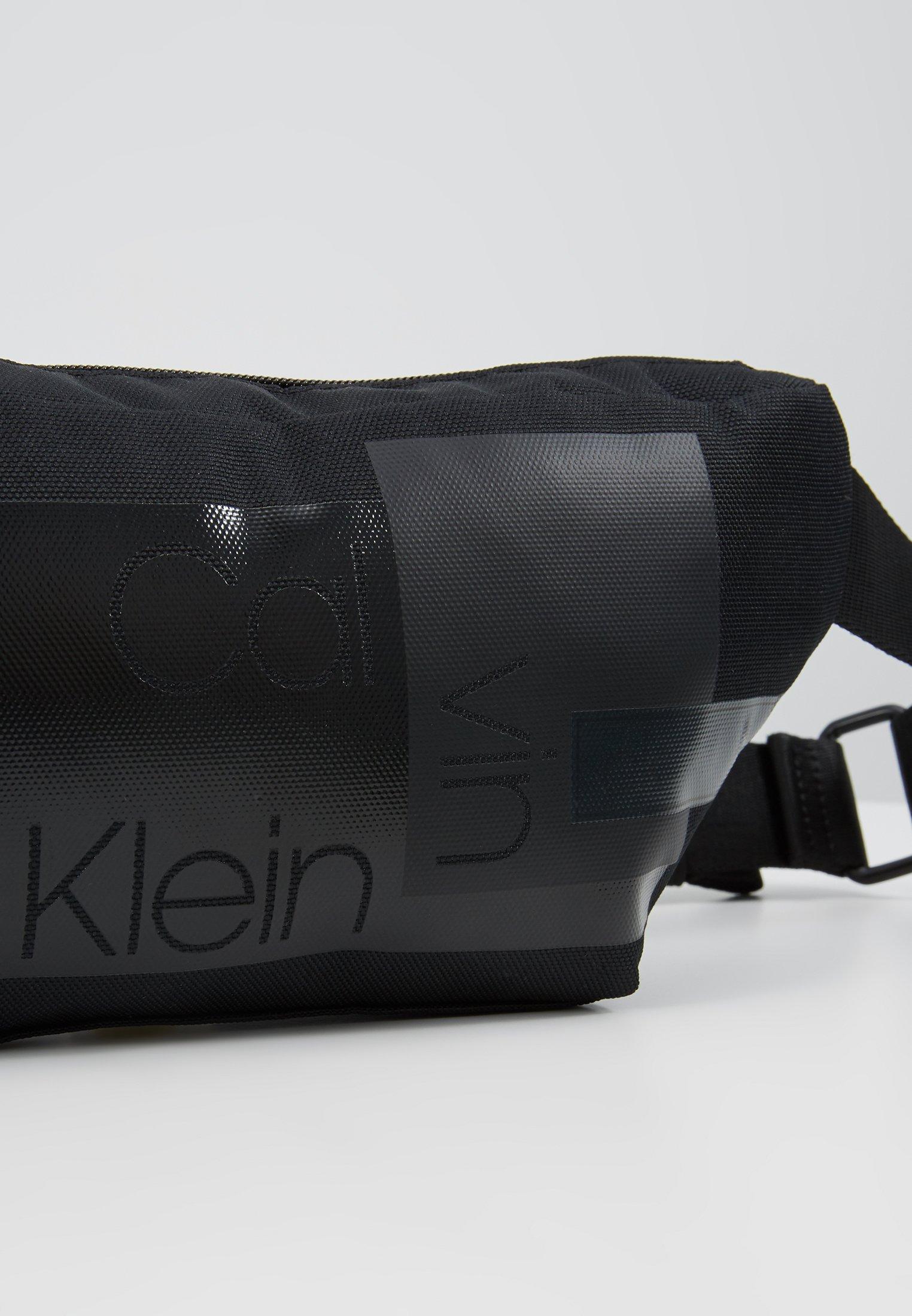 Calvin Klein LAYERED WAISTBAG - Marsupio - black