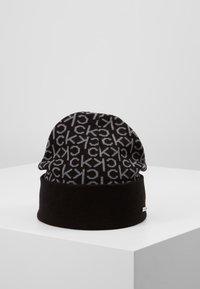 Calvin Klein - INDUSTRIAL MONO BEANIE - Muts - black - 0