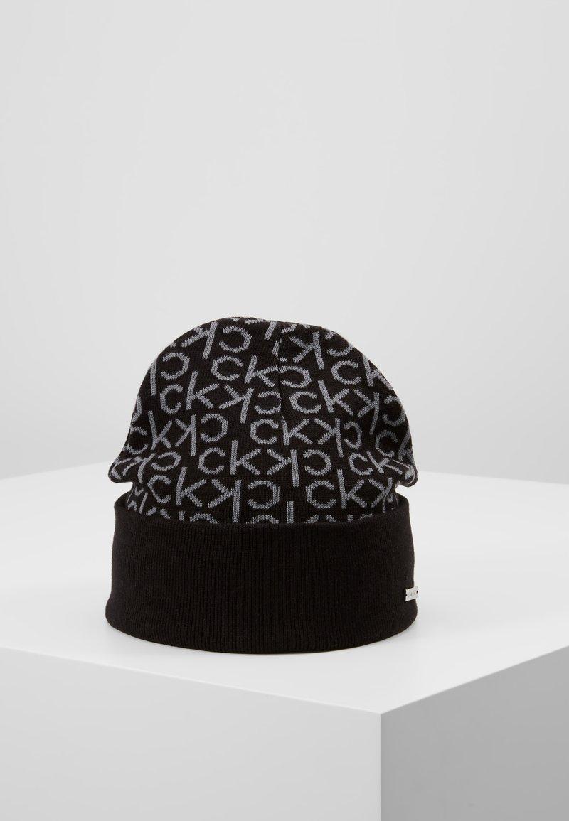 Calvin Klein - INDUSTRIAL MONO BEANIE - Muts - black