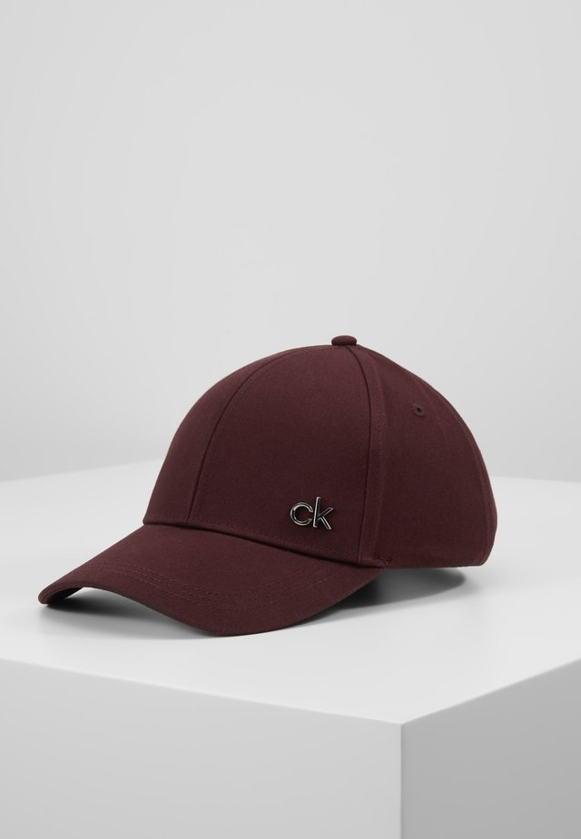 SIDE LOGO - Cap - bordeaux
