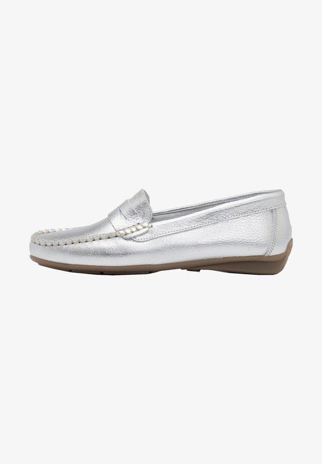 Moccasins - silver/gold