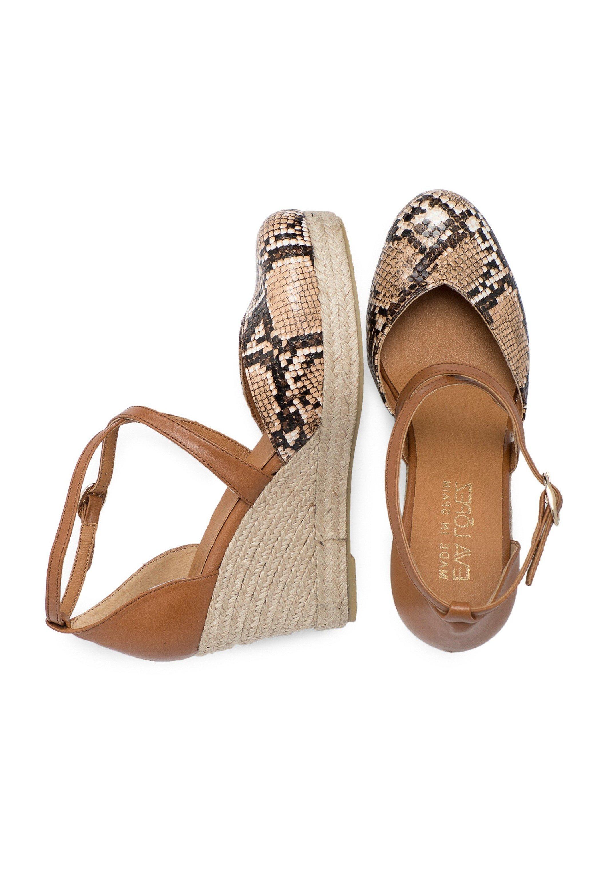 Eva Lopez Wedge sandals - cuero