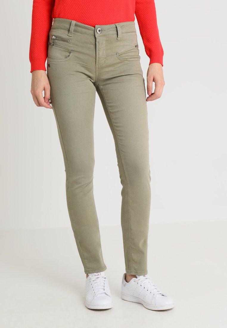 Freeman T. Porter - ALEXA HIGH WAIST - Trousers - deep lichen green