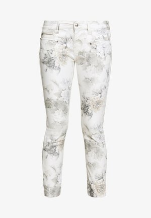 ALEXA CROPPED PEONY - Pantalon classique - off-white/grey