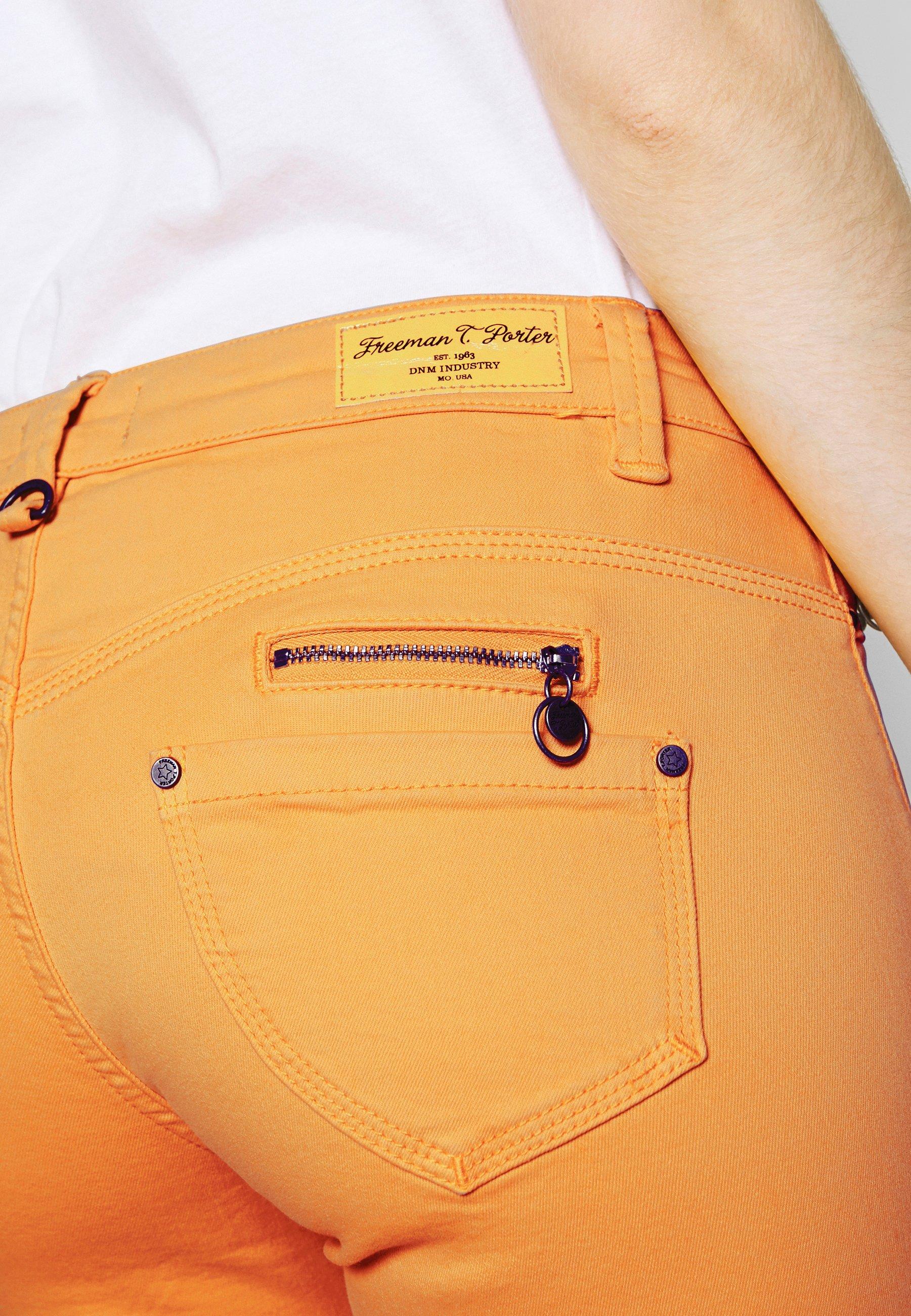 Freeman T. Porter ALEXA CROPPED NEW MAGIC COLOR - Jeans Skinny Fit - cadmium yellow