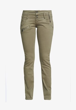 AMELIE MAGIC COLOR - Trousers - deep lichen green