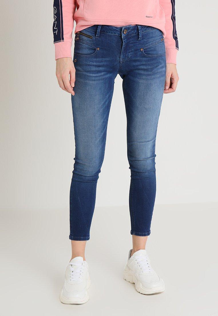 Freeman T. Porter - ALEXA CROPPED - Jeans Skinny Fit - dark blue denim