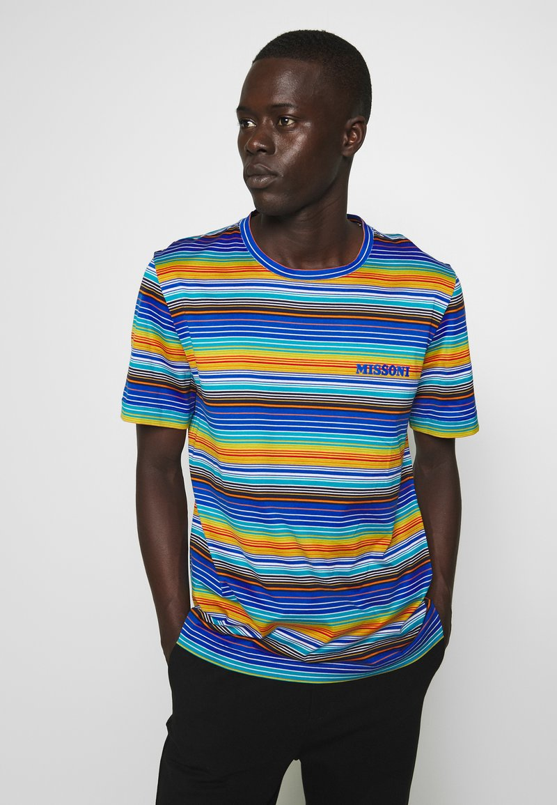 Missoni - SHORT SLEEVE - Camiseta estampada - multi-coloured/blue