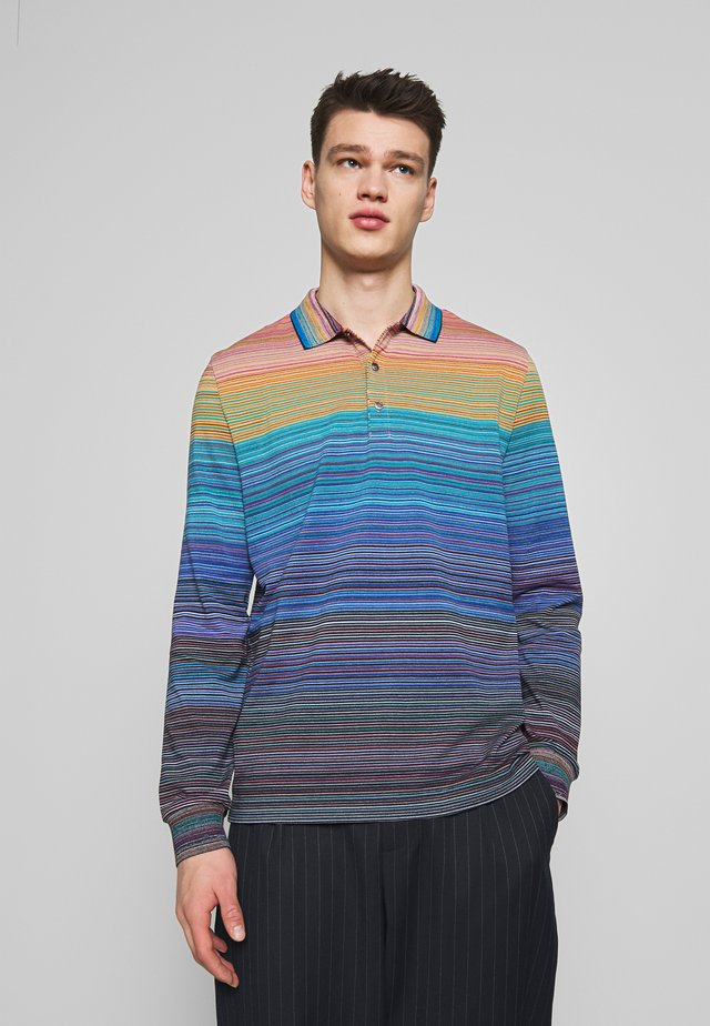 LONG SLEEVE - Polo shirt - blue/multi-coloured