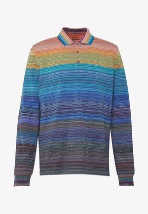 LONG SLEEVE - Polo shirt - blue/multi-coloured
