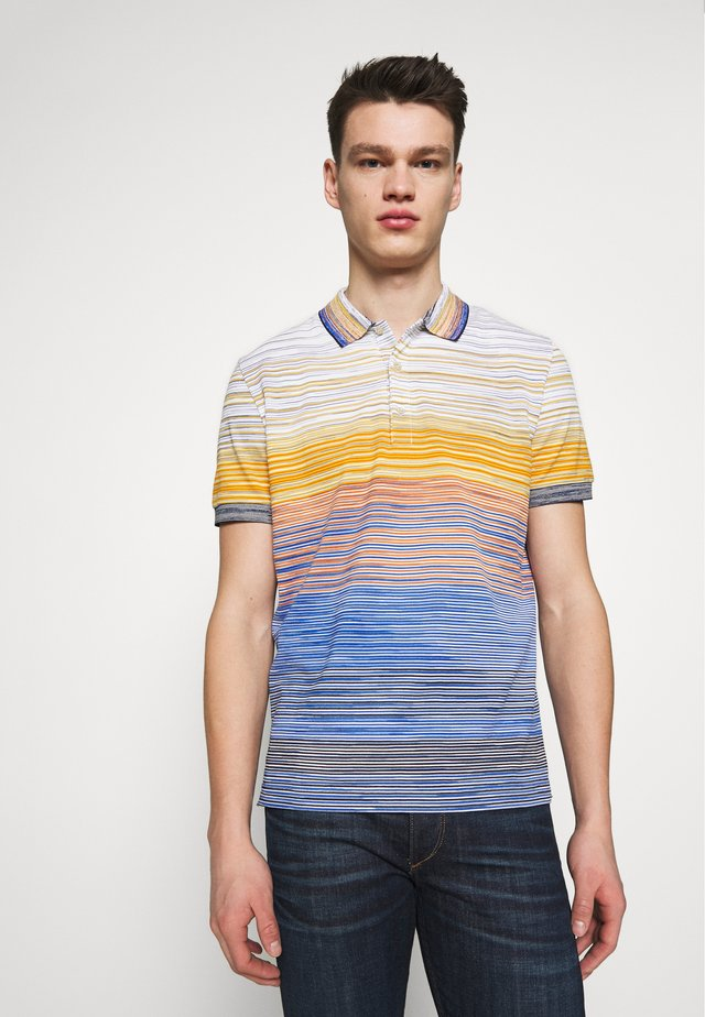SHORT SLEEVE POLO - Polotričko - blue/multi-coloured