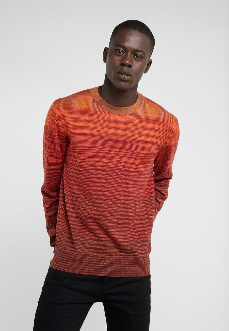 Missoni - LONG SLEEVE MOCK NECK - Stickad tröja - red
