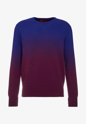 Strickpullover - blue/bordeaux