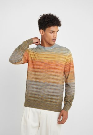 LONG SLEEVE CREW NECK - Jersey de punto - multi-coloured