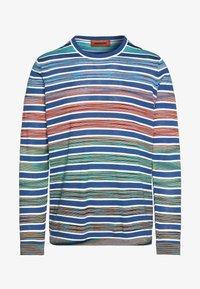 Missoni - LONG SLEEVE CREW NECK - Jersey de punto - blue/multi-coloured - 4