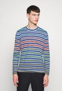 Missoni - LONG SLEEVE CREW NECK - Jersey de punto - blue/multi-coloured - 0