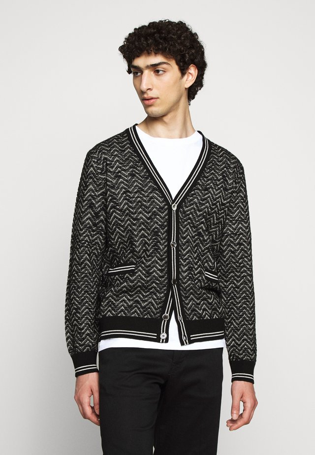 CARDIGAN CASH - Kardigan - black/white