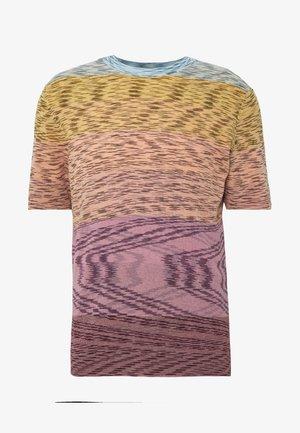 HENLEY - T-shirt z nadrukiem - pink multi