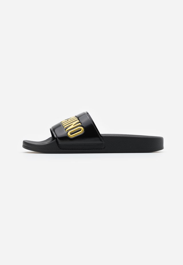 Pool slides - nero/oro